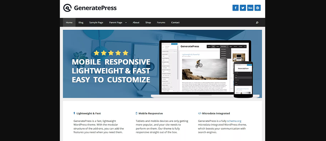 GeneratePress para WordPress un tema para todos